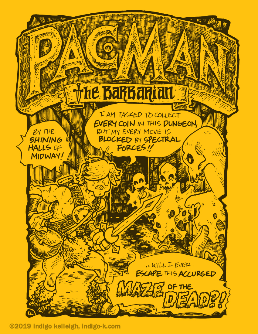 Pac Man the Barbarian, Cover