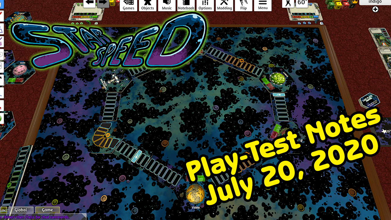 StarSpeed Play test notes, July 20, 2020