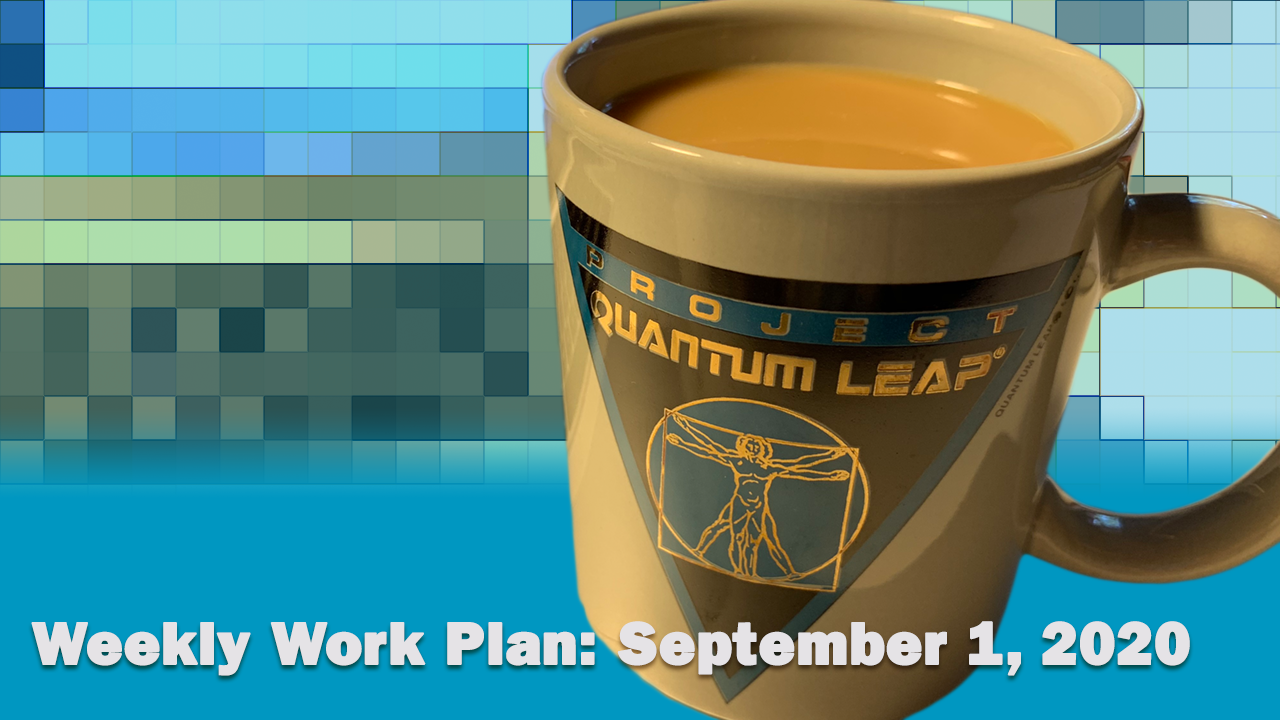 Work Plan, Sept. 1, 2020